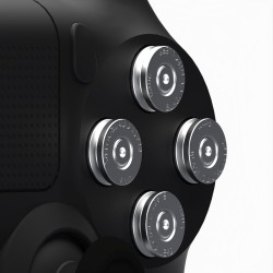 Boutons Balles 9mm Silver PS4