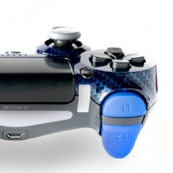 MANETTE PS4 CARBON BLEU
